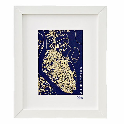 Charleston  Street Map
