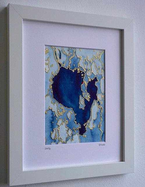 11x14 Watercolor Map