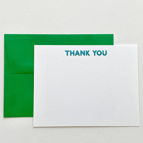 Thank You - Blue/Green