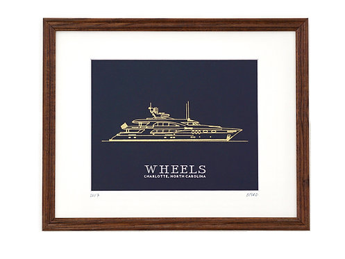 Boat Portrait - Navy/Gold
