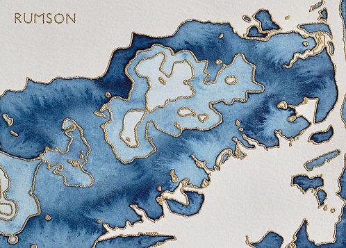 Rumson Watercolor Map
