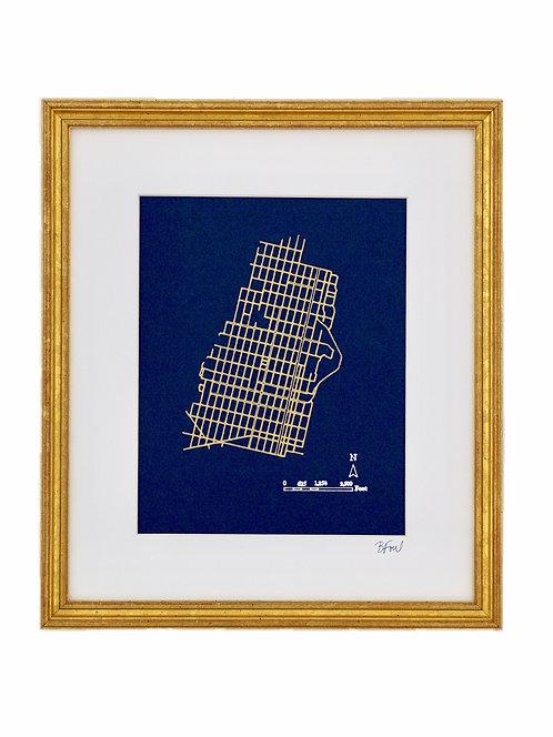 11x14 Hoboken Street Map