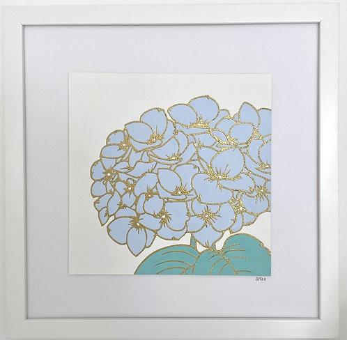 Hydrangea Square - Blue Large