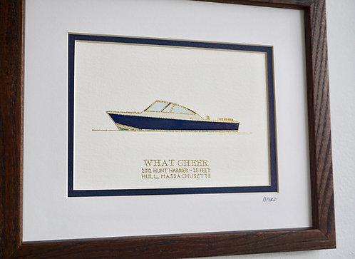 Custom Gouache Boat