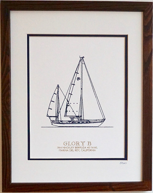 Boat Portrait - White/Navy