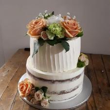 Hochzeitstorte Naked Cake Rose