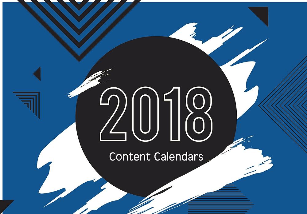 2018 Content Calendar