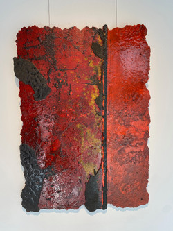 detritus - post landscape, 2021, fiberglass, resin, pigment and substrata 80 x 110 cm