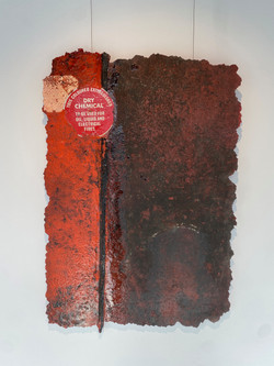 detritus - wreckage, 2021, fiberglass, resin, pigment and substrata 80 x 110 cm