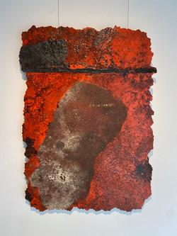detritus - storyscape, 2021, fiberglass, resin, pigment and substrata 80 x 110 cm