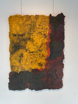 detritus - ripped, 2021, fiberglass, resin, pigment and substrata 80 x 110 cm
