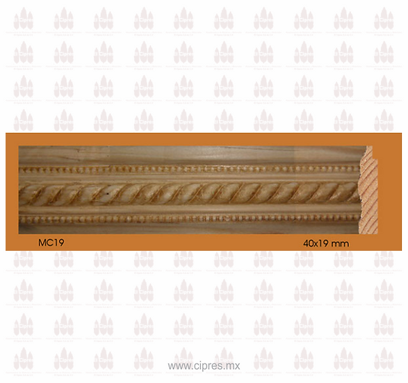 MOLDURA MC 40 X 19 MM