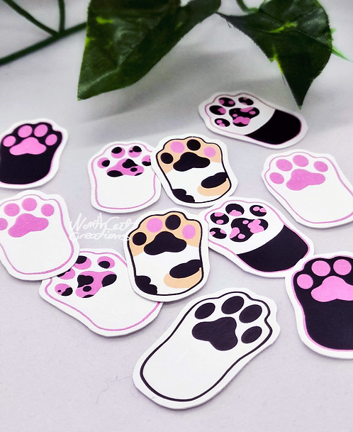 Cat Paws sticker pack- 12psc