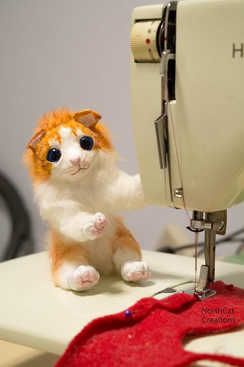 Orange kitty artdoll