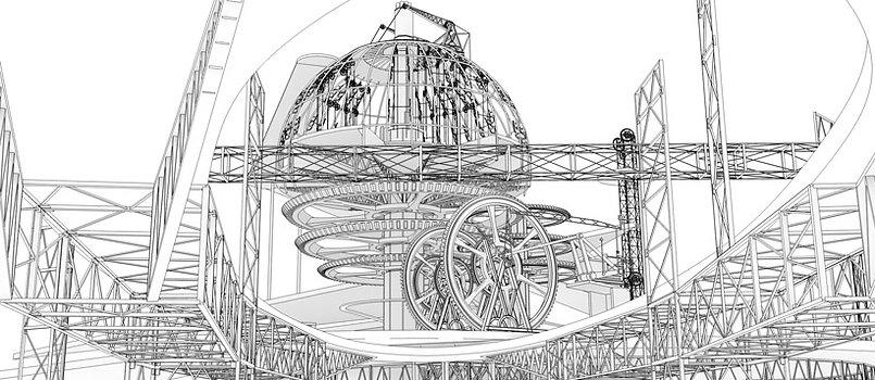 The Geometry Machine, Crosby Beach, Liverpool