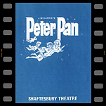 Peter Pan programme cover, from the Shaftesbury Theatre