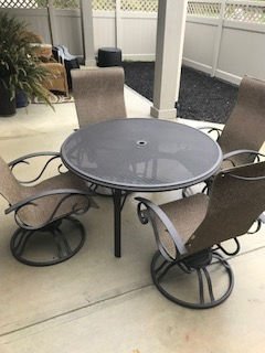 Homecrest patio furntiure dark roast frame finish and pocket slings
