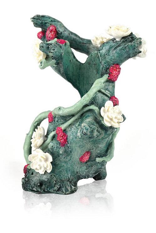 Ceppo con fiore verde 46144 per acquario