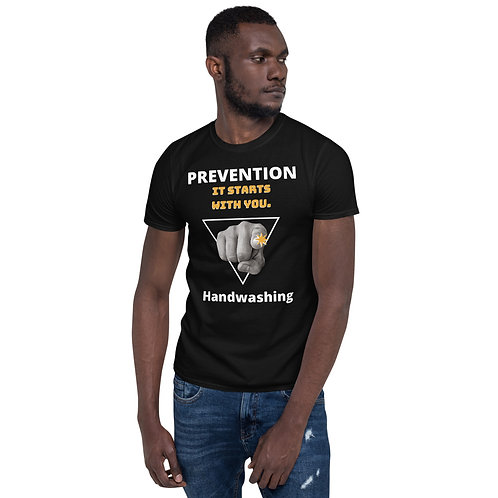 Prevention, It starts with you! Handwashing - Short-Sleeve Unisex T-Shirt QuianaChildress.com