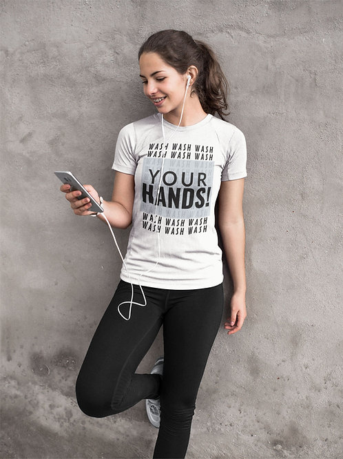 Wash your hands words - Short-Sleeve Unisex T-Shirt QuianaChildress.com