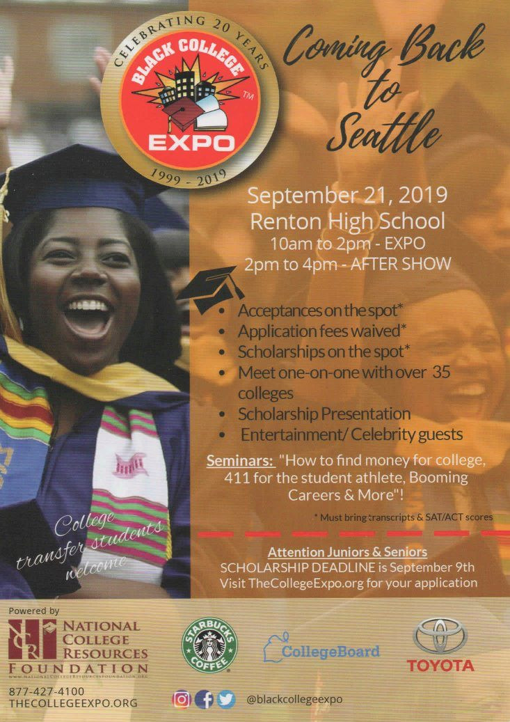 Black College Expo Seattle featuring International Speaker, Quiana Childress, on 9/21/2019