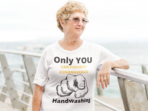 Only YOU can prevent Coronavirus! 2 - Short-Sleeve Unisex Tee - white QuianaChildress.com