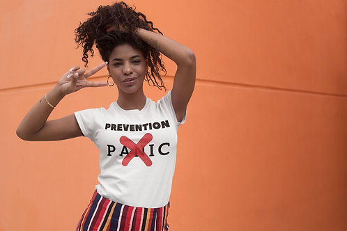 Prevention, not panic - Short-Sleeve Unisex T-shirt QuianaChildress.com