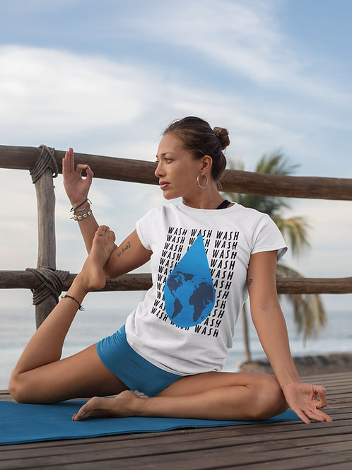 Wash your hands world - Short-Sleeve Unisex T-Shirt QuianaChildress.com