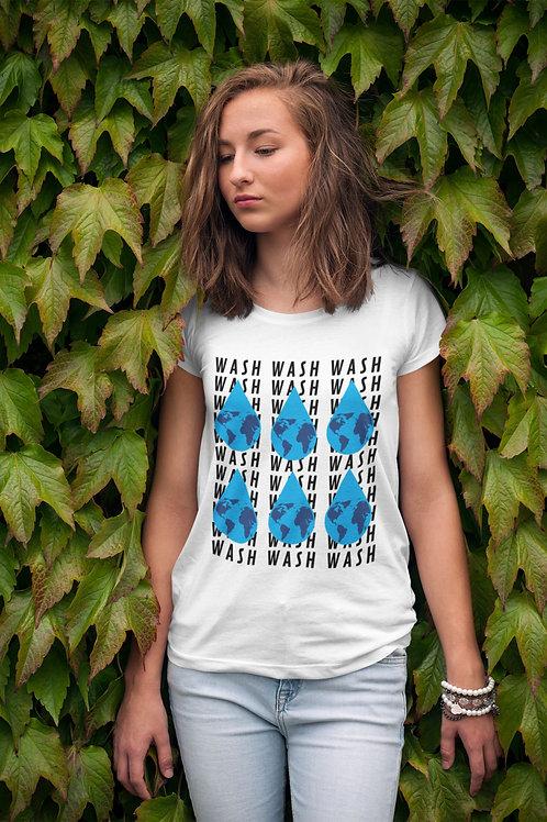 Wash Your Hands Nation - Short-Sleeve Unisex T-Shirt QuianaChildress.com