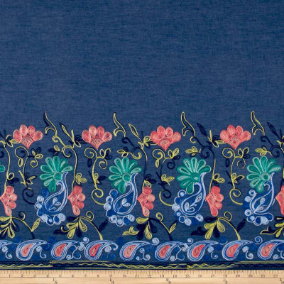 TELIO DENIM EMBROIDERED SINGLEBORDER