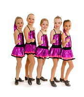5 Young Girls in Recital Competition Tap