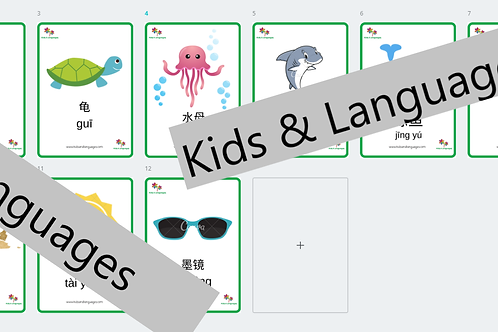 Sea animals in Mandarin - Flashcards