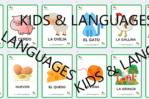 Farm Animals Spanish Flashcards