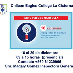 Inicio de período de Matrículas para estudiantes seleccionados SAE...