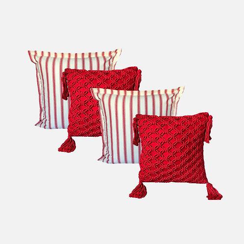 Kit  (2) Brisas Macramê vermelha + (2) Brisas Red