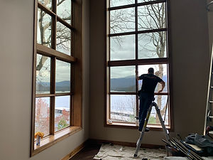 Residential window tint on home at South Holston Lake