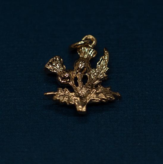 14ct Gold Thistle Charm