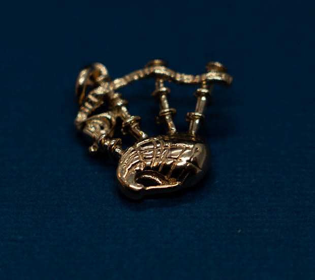 14ct Gold Bagpipe Charm
