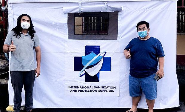 Setup Sanitization Unit CB-19 at Santa Cruz Laguna Public Market with Barangay Captain Rionel Balubayan