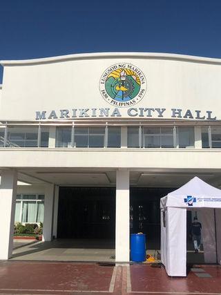 Tent at Marikina City Hall