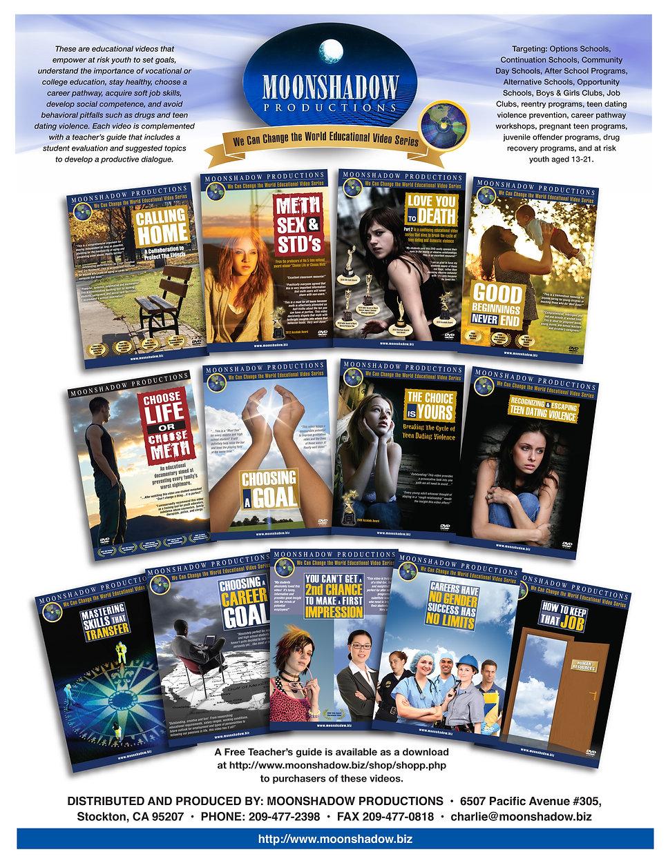 Moonshadiw Productions Product Catalog