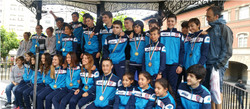 foto equipo medallas