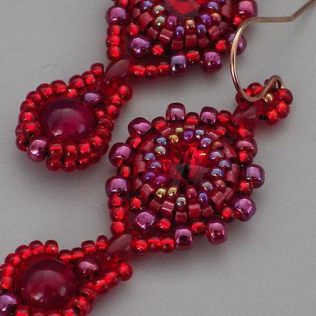 Red Swarovski beadwoven earrings.jpg