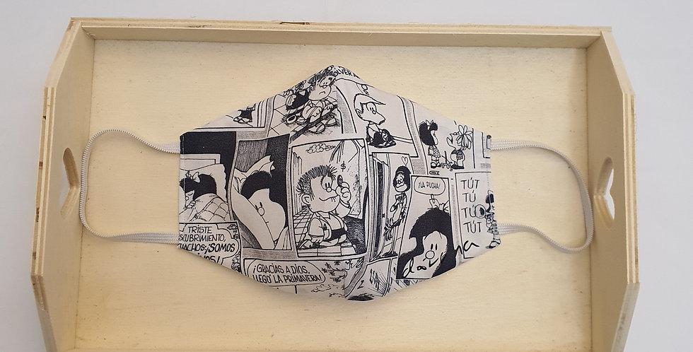 Mascarilla Mafalda Comic