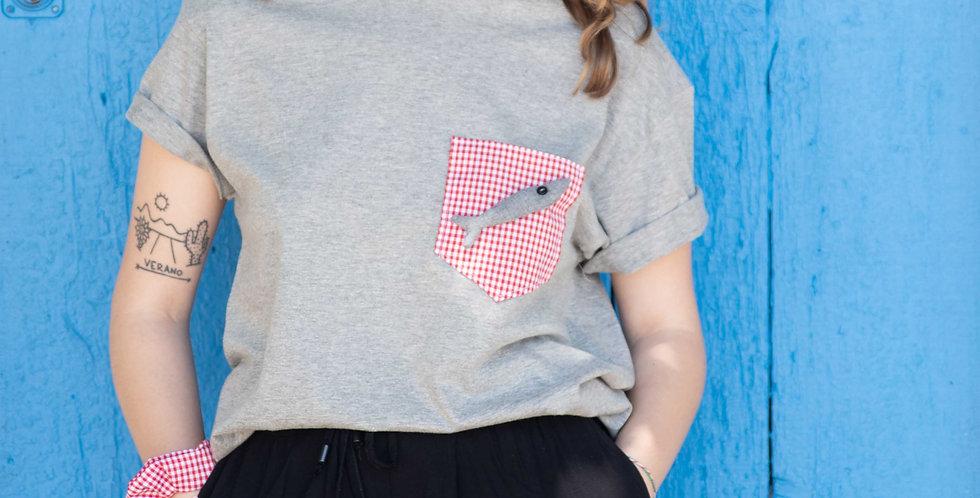 Camiseta Sardina Vichy Rojo SJ18