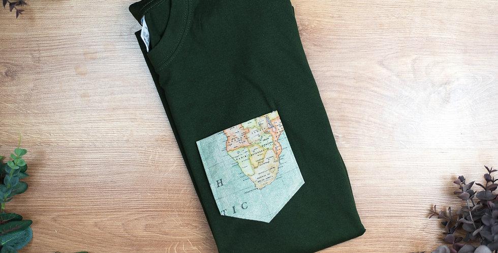 Camiseta Caqui Mapa Antiguo