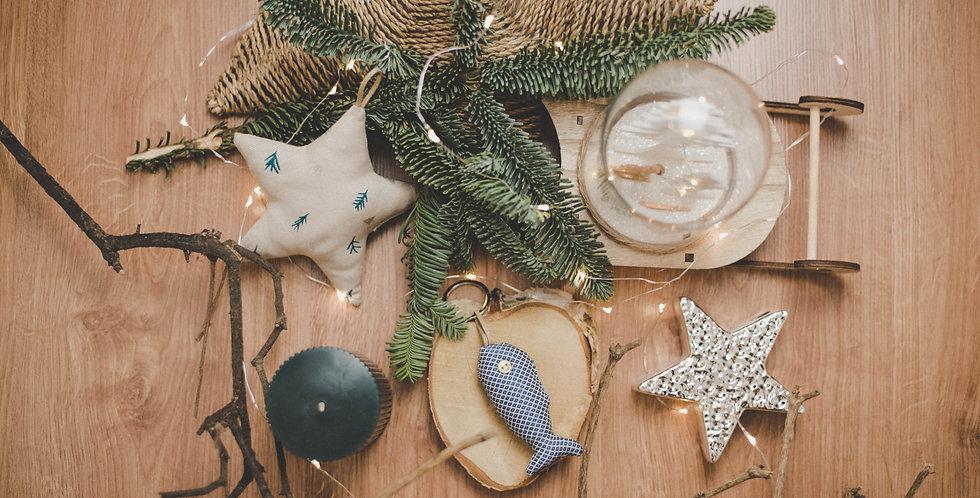 LLavero pez navidad azul