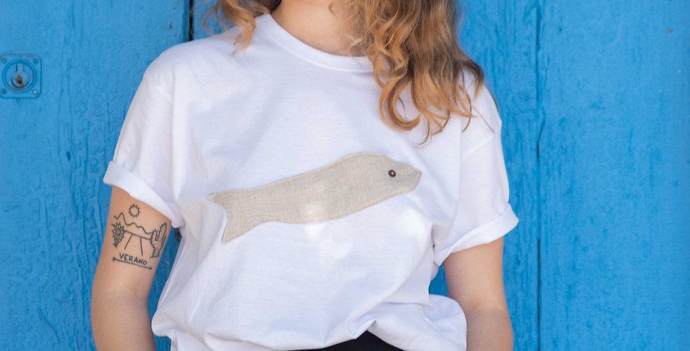 Camiseta sardina beis SJ18