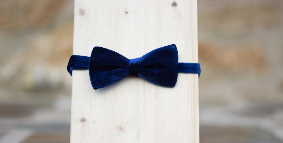 Pajarita Niñx Terciopelo Azul