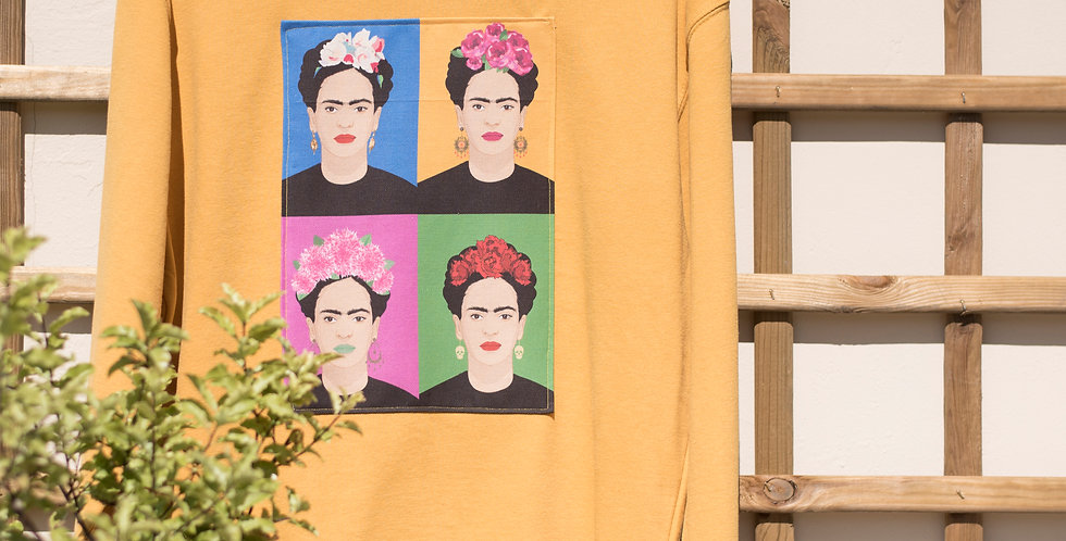 Sudadera mostaza Frida
